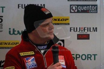 World © Octane Photographic Ltd. Thursday 21st March 2013. Dunlop MSA British Touring Car Championship  (BTCC) Media Day – Donington Park. Warren Scott – BMR Restart – SEAT Leon. Digital Ref : 0601cj7d0338