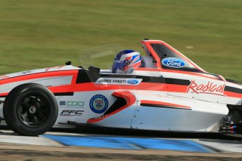 World © Octane Photographic Ltd. Formula Ford, Donington Park practice Thursday 18th April 2013. Radical Sportscars – Sinter LA12/Scholar – James Abbot. Digital Ref :