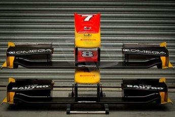 World © Octane Photographic Ltd. GP3 Testing - Thursday 27th June 2013 Dallara GP3/13 - Silverstone Circuit. Racing Engineering spare nosecones. Digital ref : 0723ce1d6014