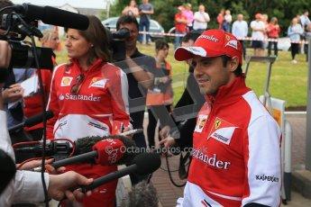World © Octane Photographic Ltd. GP2 British GP, Silverstone, Thursday 27th June 2013. Felipe Massa - Scuderia Ferrari - Shell Towcester Pit Stop. Digital Ref : 0723lw1d2372