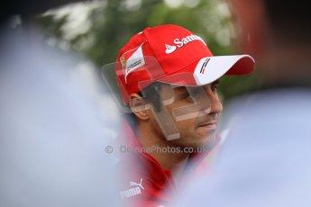 World © Octane Photographic Ltd. GP2 British GP, Silverstone, Thursday 27th June 2013. Felipe Massa - Scuderia Ferrari - Shell Towcester Pit Stop. Digital Ref : 0723lw1d9812