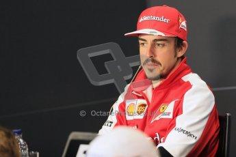 World © Octane Photographic Ltd. F1 British GP - Silverstone, Thrusday 27th June 2013. Scuderia Ferrari - Fernando Alonso. Digital Ref : 0723lw7dx9987