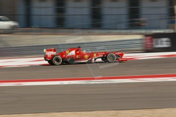 World © Octane Photographic Ltd. F1 USA GP, Austin, Texas, Circuit of the Americas (COTA), Friday 15th November 2013 - Practice 2. Scuderia Ferrari F138 - Fernando Alonso. Digital Ref : 0854lw1d1755