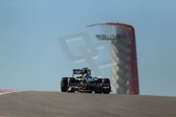 World © Octane Photographic Ltd. F1 USA GP, Austin, Texas, Circuit of the Americas (COTA), Friday 15th November 2013 - Practice 2. Sauber C32 - Esteban Gutierrez. Digital Ref : 0854lw1d3701