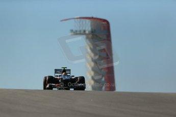 World © Octane Photographic Ltd. F1 USA GP, Austin, Texas, Circuit of the Americas (COTA), Friday 15th November 2013 - Practice 2. Sauber C32 - Esteban Gutierrez. Digital Ref : 0854lw1d3737
