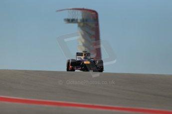 World © Octane Photographic Ltd. F1 USA GP, Austin, Texas, Circuit of the Americas (COTA), Friday 15th November 2013 - Practice 2. Infiniti Red Bull Racing RB9 - Sebastian Vettel. Digital Ref : 0854lw1d3814