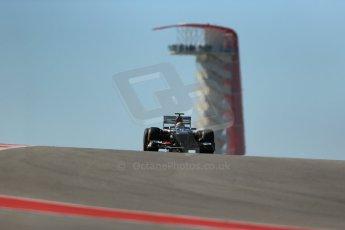 World © Octane Photographic Ltd. F1 USA GP, Austin, Texas, Circuit of the Americas (COTA), Friday 15th November 2013 - Practice 2. Sauber C32 - Esteban Gutierrez. Digital Ref : 0854lw1d3902
