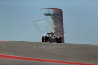 World © Octane Photographic Ltd. F1 USA GP, Austin, Texas, Circuit of the Americas (COTA), Friday 15th November 2013 - Practice 2. Infiniti Red Bull Racing RB9 - Mark Webber. Digital Ref : 0854lw1d3918