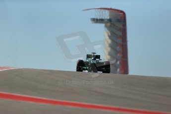 World © Octane Photographic Ltd. F1 USA GP, Austin, Texas, Circuit of the Americas (COTA), Friday 15th November 2013 - Practice 2. Caterham F1 Team CT03 - Charles Pic. Digital Ref : 0854lw1d3929