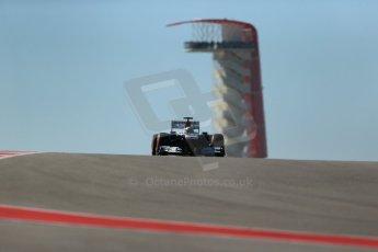 World © Octane Photographic Ltd. F1 USA GP, Austin, Texas, Circuit of the Americas (COTA), Friday 15th November 2013 - Practice 2. Williams FW35 - Pastor Maldonado. Digital Ref : 0854lw1d4001
