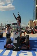 World © Octane Photographic Ltd. F1 USA GP, Austin, Texas, Circuit of the Americas (COTA), Sunday 17th November 2013 – Post-Race Parc Ferme. Infiniti Red Bull Racing - Sebastian Vettel. Digital Ref : 0862lw1d2937
