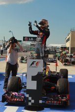 World © Octane Photographic Ltd. F1 USA GP, Austin, Texas, Circuit of the Americas (COTA), Sunday 17th November 2013 – Post-Race Parc Ferme. Infiniti Red Bull Racing - Sebastian Vettel. Digital Ref : 0862lw1d2954