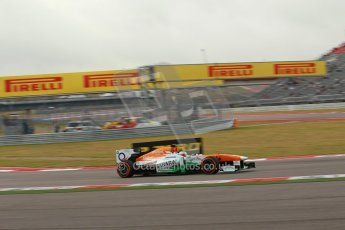 World © Octane Photographic Ltd. F1 USA GP, Austin, Texas, Circuit of the Americas (COTA), Saturday 16th November 2013 - Practice 3. Sahara Force India VJM06 - Paul di Resta. Digital Ref : 0857lw1d1842