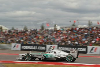 World © Octane Photographic Ltd. F1 USA GP, Austin, Texas, Circuit of the Americas (COTA), Saturday 16th November 2013 - Qualifying. Mercedes AMG Petronas F1 W04 – Lewis Hamilton. Digital Ref : 0858lw1d1957