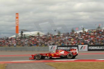 World © Octane Photographic Ltd. F1 USA GP, Austin, Texas, Circuit of the Americas (COTA), Saturday 16th November 2013 - Qualifying. Scuderia Ferrari F138 - Felipe Massa. Digital Ref : 0858lw1d2053