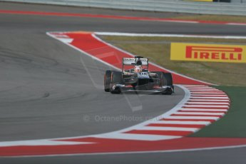 World © Octane Photographic Ltd. F1 USA GP, Austin, Texas, Circuit of the Americas (COTA), Saturday 16th November 2013 - Qualifying. Sauber C32 - Nico Hulkenberg. Digital Ref : 0858lw1d5427