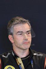 World © Octane Photographic Ltd. F1 USA GP, Austin, Texas, Circuit of the Americas (COTA), Friday 15th November 2013 – FIA Press conference. Nick Chester – Technical Director Lotus F1 Team. Digital Ref : 0855lw1d4368