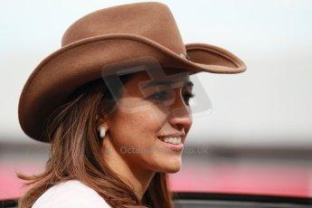 World © Octane Photographic Ltd. USA F1 Grand Prix, Austin, Texas, Circuit of the Americas (COTA). Paddock, Thursday 14th November 2013. Bernie Ecclestone's wife, Fabiana Flosi. Digital Ref : 0852lw1d1144