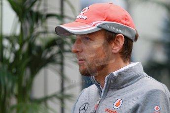 World © Octane Photographic Ltd. USA F1 Grand Prix, Austin, Texas, Circuit of the Americas (COTA). Paddock, Thursday 14th November 2013. Jenson Button - Vodafone McLaren Mercedes. Digital Ref : 0852lw1d1165