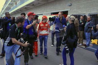 World © Octane Photographic Ltd. USA F1 Grand Prix, Austin, Texas, Circuit of the Americas (COTA). Paddock, Thursday 14th November 2013. Felipe Massa – Scuderia Ferrari. Digital Ref : 0852lw1d2635