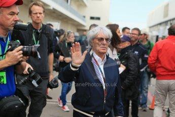 World © Octane Photographic Ltd. USA F1 Grand Prix, Austin, Texas, Circuit of the Americas (COTA). Paddock, Thursday 14th November 2013. Bernie Ecclestone. Digital Ref : 0852lw1d2657