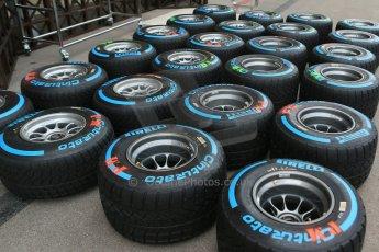 World © Octane Photographic Ltd. USA F1 Grand Prix, Austin, Texas, Circuit of the Americas (COTA). Paddock, Thursday 14th November 2013. Pirelli Full Wet tyre choice. Digital Ref : 0852lw1d2665