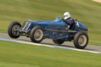 World © Octane Photographic Ltd. Donington Historic Festival, Friday 3rd May 2013. HGPCA Nuvolari Trophy pre-1940 GP cars with Hall and Hall. ERA R4A - Nicholas Topliss/James Baxter. Digital Ref : 0645cb7d0115