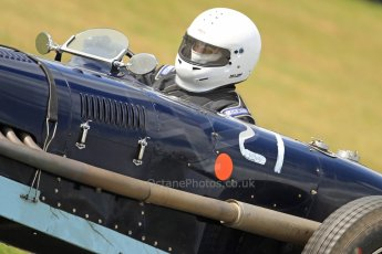 World © Octane Photographic Ltd. Donington Historic Festival, Friday 3rd May 2013. HGPCA Nuvolari Trophy pre-1940 GP cars with Hall and Hall. 1934/1935 Riley ERA - David Hawkins. Digital Ref : 0645cb7d0144