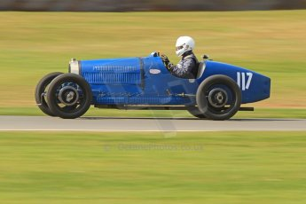 World © Octane Photographic Ltd. Donington Historic Festival, Friday 3rd May 2013. HGPCA Nuvolari Trophy pre-1940 GP cars with Hall and Hall. Bugatti T37A - Mark Valvekens. Digital Ref : 0645cb7d8209