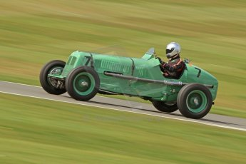 World © Octane Photographic Ltd. Donington Historic Festival, Friday 3rd May 2013. HGPCA Nuvolari Trophy pre-1940 GP cars with Hall and Hall. ERA R3A - Mark Gillies. Digital Ref : 0645cb7d8226