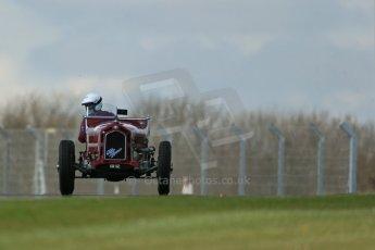 World © Octane Photographic Ltd. Donington Historic Festival, Friday 3rd May 2013. HGPCA Nuvolari Trophy pre-1940 GP cars with Hall and Hall. Alfa Romeo 1750GS - Nick Rossi. Digital Ref : 0645lw1d7285