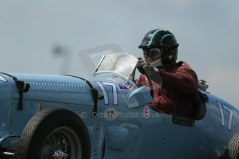 World © Octane Photographic Ltd. Donington Historic Festival, Friday 3rd May 2013. HGPCA Nuvolari Trophy pre-1940 GP cars with Hall and Hall. 1933/1936 MG Parnell K3 - Richard Last. Digital Ref : 0645lw1d7487