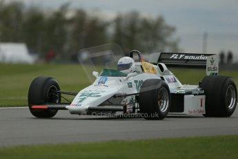 World © Octane Photographic Ltd. Donington Historic Festival, Friday 3rd May 2013. Ayrton Senna Car Demonstrations. Williams FW08C driven by Rob Hall. Digital Ref : 0646lw1d7566