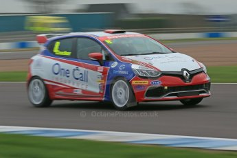 World © Octane Photographic Ltd. Donington Park General Unsilenced Test, Thursday 28th November 2013. United Autosports – Renault UK Clio Cup – Renault Clio RS – Finlay Crocker. Digital Ref : 0870cb1dx8398