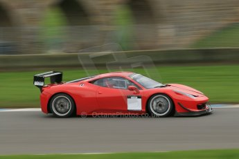 World © Octane Photographic Ltd. Donington Park General Unsilenced Test, Thursday 28th November 2013. Ferrari 458 BAMD - McGuinness/Nelson. Digital Ref : 0870cb1dx8536