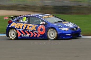 World © Octane Photographic Ltd. Donington Park General Unsilenced Test, Thursday 28th November 2013. British Touring Car Championship (BTCC) - Martin Depper – Pirtek Pacing – Honda Civic NGTC. Digital Ref : 0870cb1dx8578