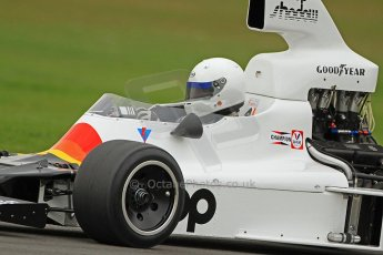 World © Octane Photographic Ltd. Donington Park General un-silenced test 25th April 2013. Shadow DN9 - Historic F1. Digital Ref : 0641cb7d6401
