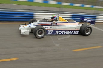 World © Octane Photographic Ltd. Donington Park General un-silenced testing, April 30th 2013. March 821 - Rothmans - Mark Dwyer, Historic F1. Digital Ref : 0643cb7d7553
