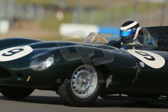 World © Octane Photographic Ltd. Donington Park General un-silenced testing, April 30th 2013. Benjamin Eastick - Jaguar D-Type. Digital Ref : 0643lw1d6402