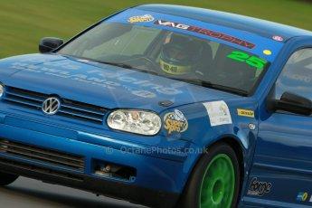 World © Octane Photographic Ltd. Donington Park unsilenced testing, 10th October 2013. VAG Trophy, Volkswaken (VW) Golf Mk.4 GTi 1.8T, Mike Smith. Digital Ref :