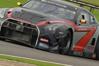 World © Octane Photographic Ltd. Donington Park unsilenced testing, 10th October 2013. JRM Motorsport, Nissan GT-R Nismo GT3, Blancpain Endurance Series. Digital Ref :