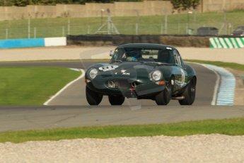 World © Octane Photographic Ltd. Donington Park unsilenced testing, 10th October 2013. Masters Racing, Jaguar E-Type. Digital Ref :