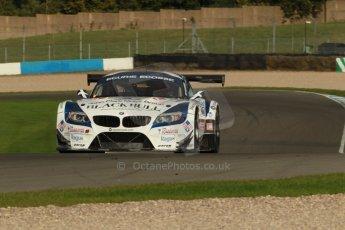 World © Octane Photographic Ltd. Donington Park unsilenced testing, 10th October 2013. BMW Z4 GT3, Ecurie Ecosse, British GT Championship, Oliver Bryant and Marco Attard. Digital Ref :