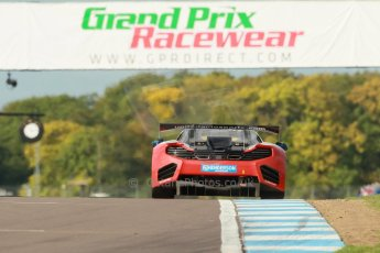 World © Octane Photographic Ltd. Donington Park unsilenced testing, 10th October 2013. McLaren MP4-12C GT3 United Autosports. Jim Geddie and Glynn Geddie. Digital Ref :