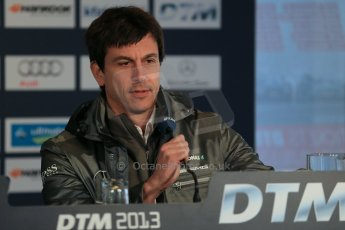 World © Octane Photographic Ltd. German Touring Cars (DTM) Brands Hatch Saturday 18th May 2013. Qualifying press conference. Mercedes-Benz head of Motorsport, Toto Wolff. Digital Ref: 0684cb1d5733
