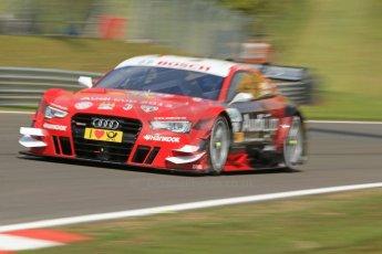 World © Octane Photographic Ltd. German Touring Cars (DTM) Brands Hatch Sunday 19th May 2013. Shakedown lap. Phoenix Racing– Audi RS5 DTM – Miguel Molina. Digital Ref: