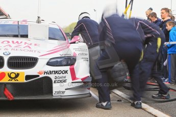 World © Octane Photographic Ltd. German Touring Cars (DTM) Brands Hatch Sunday 19th May 2013. Pit stop practice. BMW Team RMG – BMW M3 DTM – Andy Priaulx. Digital Ref: 0685cb1d5827
