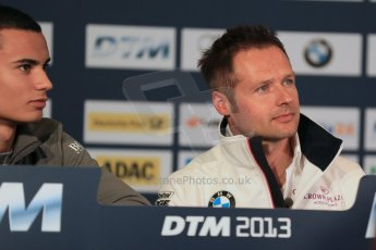 World © Octane Photographic Ltd. German Touring Cars (DTM) Brands Hatch Saturday 18th May 2013. Conference. BMW Team RMG – BMW M3 DTM – Andy Priaulx. Digital Ref: 0679cb1d4491