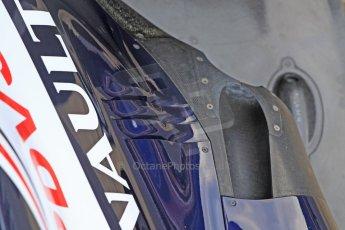 World © Octane Photographic Ltd. Formula 1 Winter testing, Barcelona – Circuit de Catalunya, 19th February 2013. Williams FW35 launch, the controversial exhaust gas conditioner. Digital Ref: 0576cb7d2507