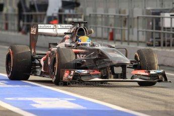 World © Octane Photographic Ltd. Formula 1 Winter testing, Barcelona – Circuit de Catalunya, 19th February 2013. Sauber C32, Esteban Gutierrez. Digital Ref: 0576cb7d8155